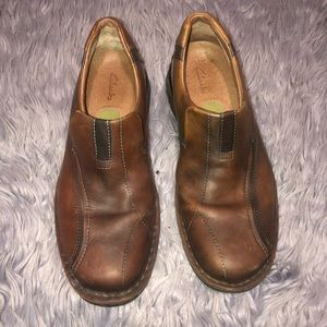 Clarks Men's Escalade Brown Leather Shoes. 70846